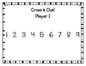 Cross It Out! Math Game for Strategy, Addition Fact