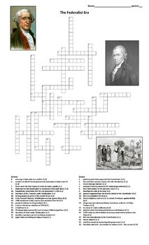 Crossword: The Federalist Era by Around the World in 180