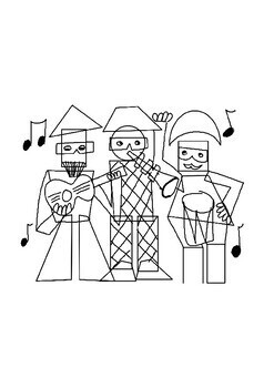 Cubism Pablo Picasso Three Musicians Drawing Guide and