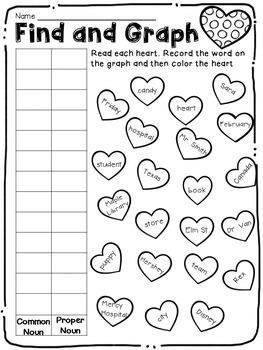 Valentine Cupid's Common and Proper Noun Activities