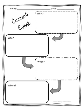 Current Event Template by Homemade Things and Magical