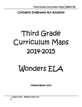 Curriculum Maps 3rd Grade ELA (2014-15) by Reading the