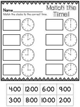 Cut and Paste Worksheets for First Grade ( Measurement