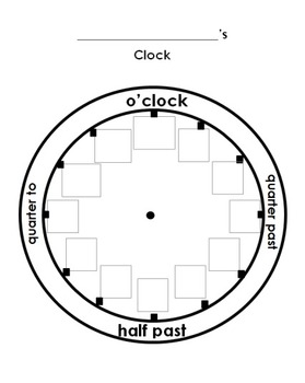 Cut and Paste the Numbers on the Clock Worksheet by 1st