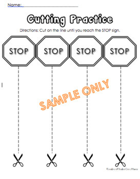 Cutting Practice Sheets Bundle 3 Pages by Kendra Alexis
