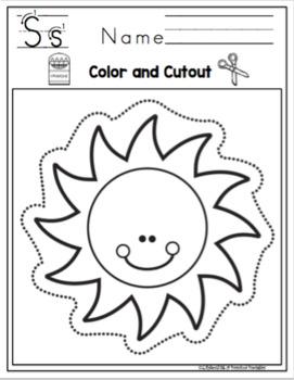 Scissor Practice Using Pictures Easy by Preschool
