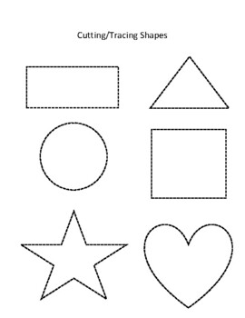 Cutting and Tracing Shapes Bundle by The Preschooling