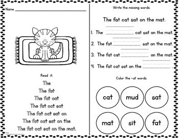 CvC Read and Find--Differentiated Fluency and