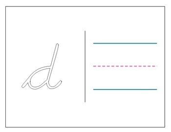 D'Nealian Cursive Lowercase Rainbow Writing Template by