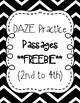 DAZE Practice Passages #1-73 Dibels (2nd-4th) **BUNDLE