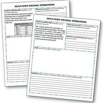 DECIMALS BUNDLE Task Cards, Error Analysis, Graphic