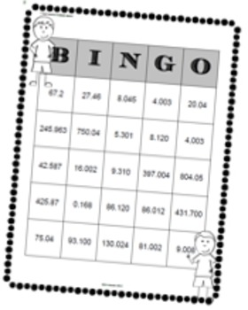 DECIMALS TO THOUSANDTHS MEGA PACK 35 TASK CARDS, BINGO