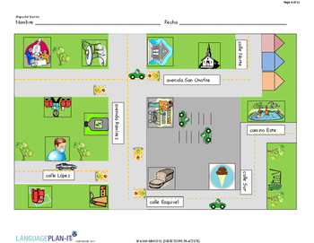 DIRECTIONS PRACTICE (SPANISH) by LanguagePlan-it | TpT