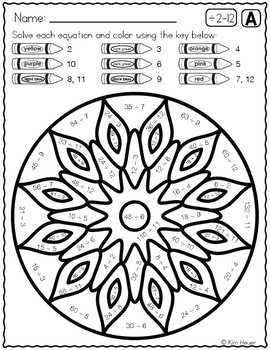 DIVISION REVIEW Color by Number Mandala Coloring Pages Vol