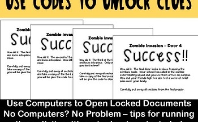 Diy Escape Room Puzzle Game For Any Subject By Sarah S