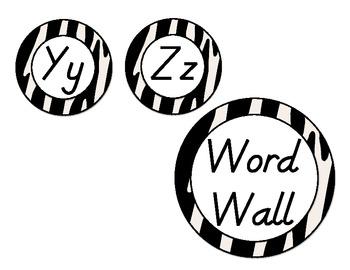 D'Nealian Word Wall Headers... by Teaching Organized