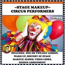 DRAMA LESSON: COSTUME DESIGN STUDY WITH CIRCUS PERFORMERS