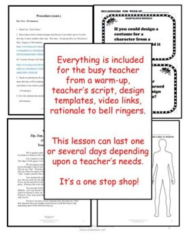 DRAMA LESSON: COSTUME DESIGN STUDY WITH NEWSPAPERS by