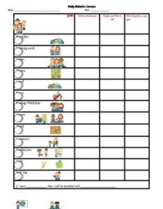 Daily behavior contract with picture schedule also chart teaching resources teachers pay rh teacherspayteachers