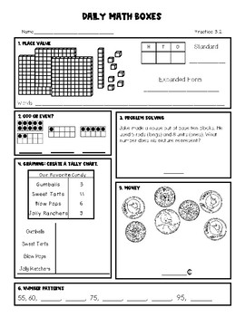 2nd Grade Daily Math Spiral Review Set 1 by The Creative