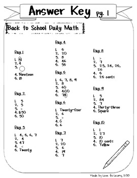 Daily Math Second Grade Bundle Pack by Love to Learn and