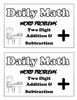 2 Digit Addition and Subtraction Word Problems by Create