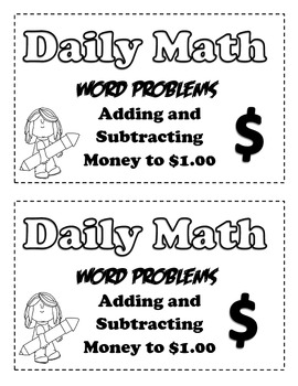Word Problems for Addition and Subtracting Money by Create