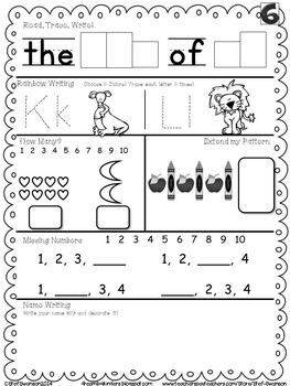 Daily Math and Literacy Back to School {August and
