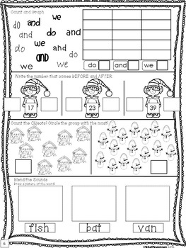 Daily Math and Literacy Winter {December and January