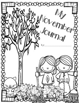 Daily November Journal Prompts (differentiated writing
