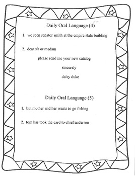 Daily Oral Language Practice Weeks 18-24 by Sandy's