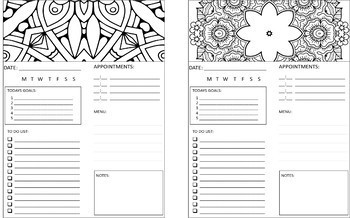 Daily Planner, Setting Goals and Mindful Meditating