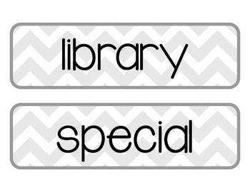 Printable Daily Schedule Labels {Gray Chevron} by