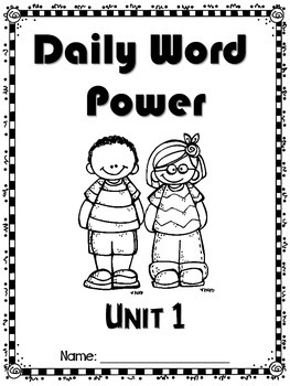 Daily Word Power Unit 1 (vocabulary practice) by Tiny