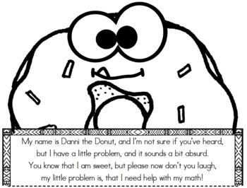Danni the Donut Math Craftivity- Multi-Step Word Problem