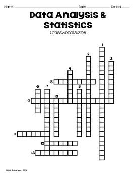 Data Analysis & Statistics (Crossword Puzzle) by Lisa