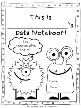 Data Notebook Cover Page *FREEBIE* by The Common Core