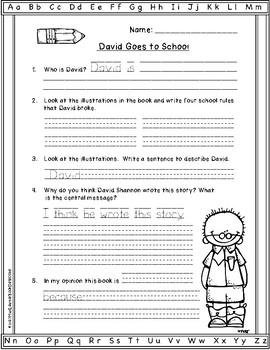 Text Dependent Questions Worksheet : dependent, questions, worksheet, David, School:, Text-Dependent, Questions, Close, Reading, Worksheet