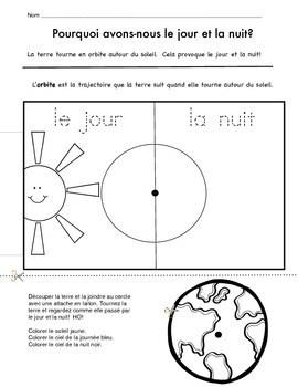 Le Jour Et La Nuit : Night, Project, French, Nuit), Petite, Kindergarten