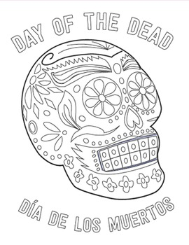 Holidays Around the World: Day of the Dead Skull Coloring