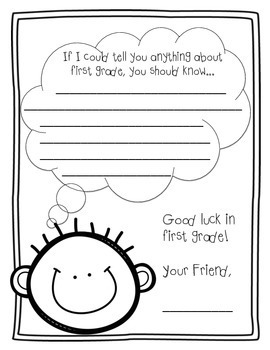 Dear Future First Grader, by From Second Grade To Sun