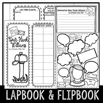 Dear Hank Williams Novel Lapbook by Lisa Taylor Teaching