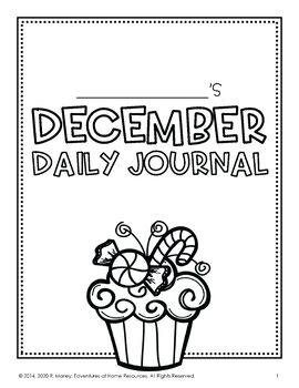 December Daily Journal (Writing Prompts) by Edventures at
