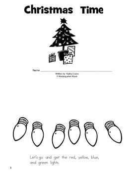 December Homework Packet: 1st Grade by Kindergarten Kiosk