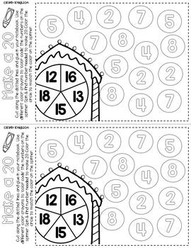 December Math Interactive Journal First Grade by Kelly