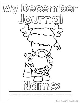 December NO PREP Journal Prompts for Beginning Writers by