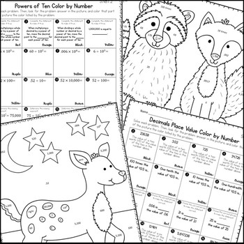 Decimal Place Value Coloring Activities by Live Laugh Math