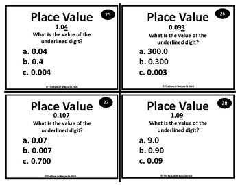 Decimal Place Value and Rounding Task Card Set by The