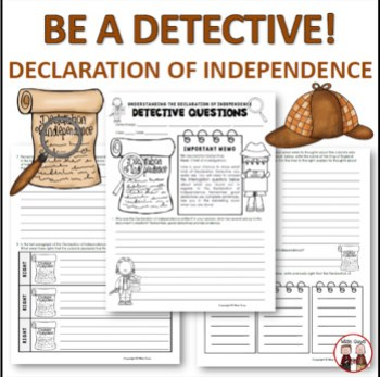 Declaration of Independence (Detective Activity)