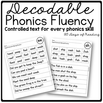 Decodable Controlled Text for Phonics Skills by 180 Days